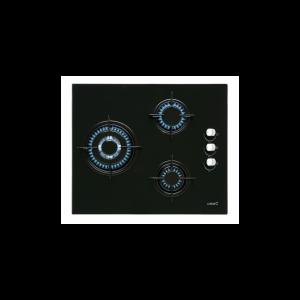 Placa Cristal-Gas Cata Ci6021bk 3f 59cm Negra