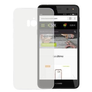 Funda Flex Ksix Tpu Transparente Huawei Y6 2017
