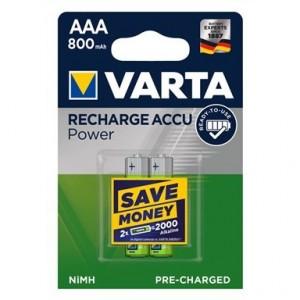 Pila Recargable Ni/Mh Varta Power 1.2v. Hr03 Aaa 800mah ( 2-Blister )