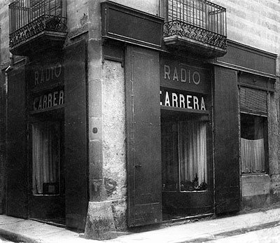 tienda Radio Carrera 1946